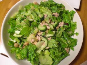 ツナと豆のグリーンサラダ
