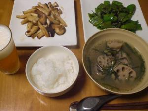 蓮根とスペアリブのスープ