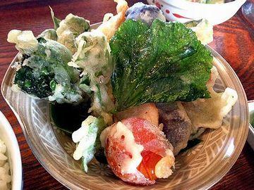 たまごカフェ 彩り野菜の天ぷら
