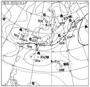 天気図 11082021