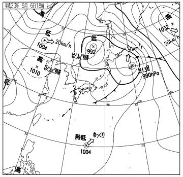 天気図 11090618