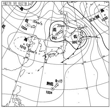 天気図 11090621