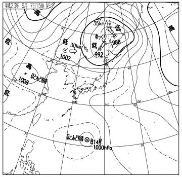天気図 11090715