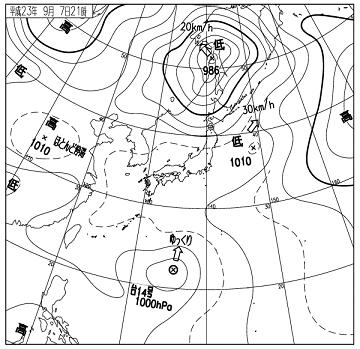 天気図 11090721