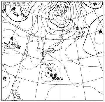 天気図 11090809