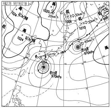 天気図 11091921c