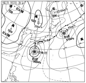 天気図 11092003c
