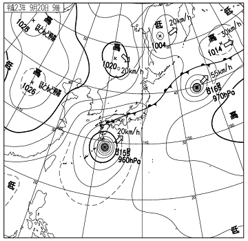 天気図 11092009c