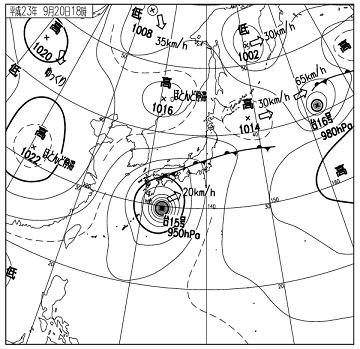天気図 11092018