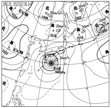 天気図 11092021