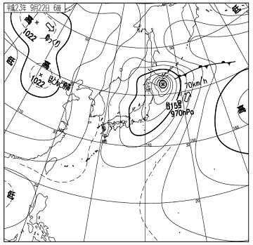 天気図 11092206