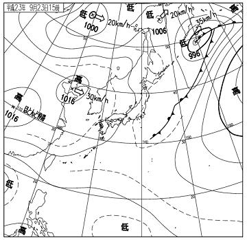 天気図 11092315