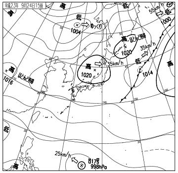 天気図 11092415