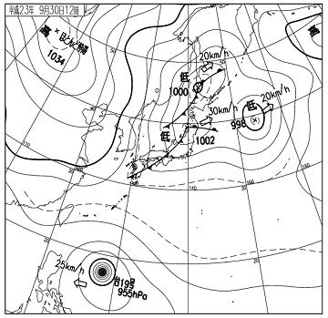 天気図 11093012