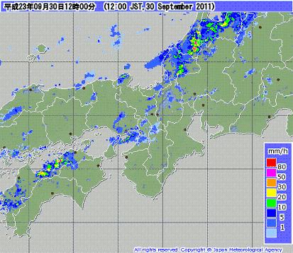 気象レーダー 201109301200-00