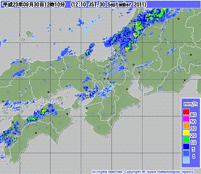 気象レーダー 201109301210-00
