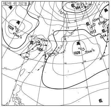天気図 12040221