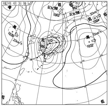 天気図 12040309