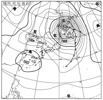 天気図 12040409