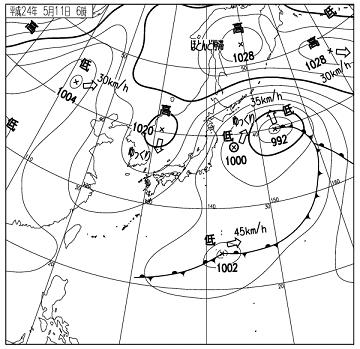 天気図 12051106