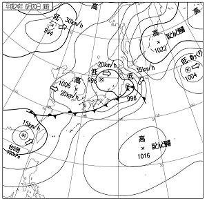 天気図 12062009