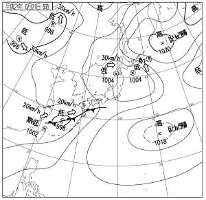 天気図 12062106