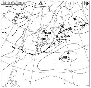 天気図 12062215