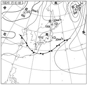 天気図 12070909