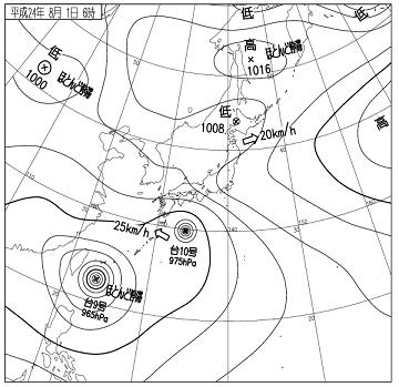 天気図 12080106