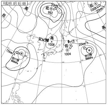 天気図 12080906