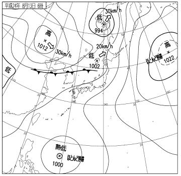 天気図 12081306