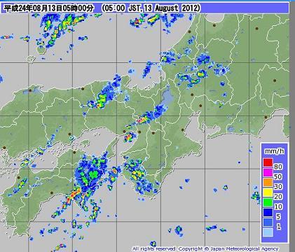 気象レーダー 201208130500-00