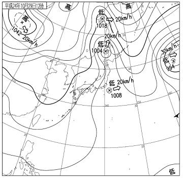 天気図 12102912