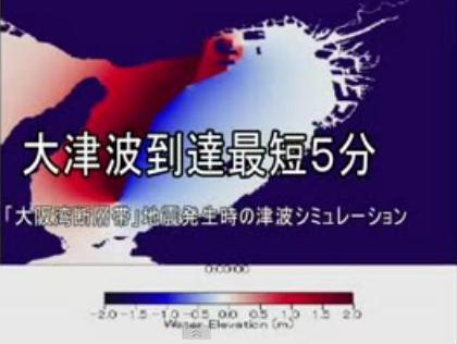 大阪湾断層帯地震 大津波シミュレーション