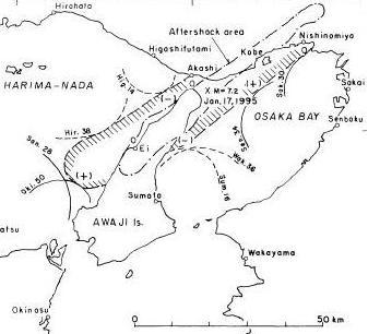 阪神・淡路大震災の津波波源域c