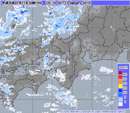 気象レーダー 201301272010-00