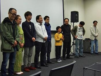 2014年11月第1回新人監督映画祭[井戸端の蛙]舞台挨拶01