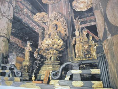 東寺五重塔内部仏像  金剛界四仏像と八大菩薩像