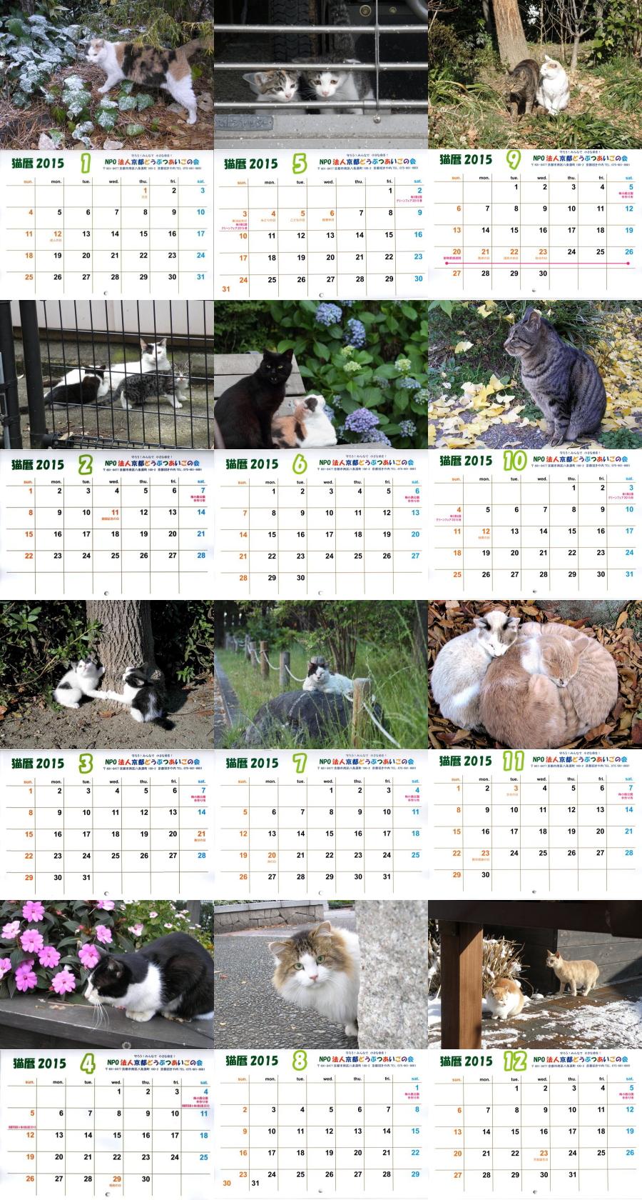 猫暦2015梅猫カレンダー (3)