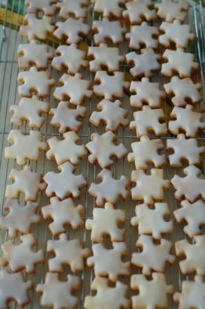 パズルのレモンクッキー