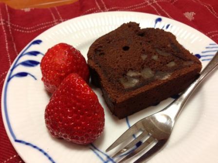 栗のショコラケーキ