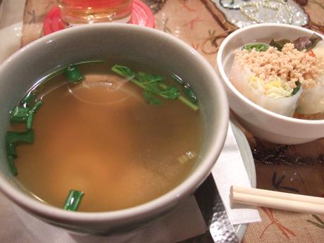 スープと生春巻き
