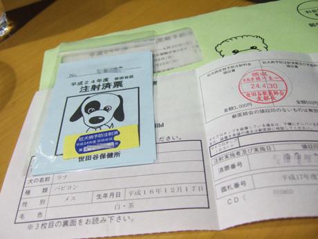 2012狂犬病予防注射