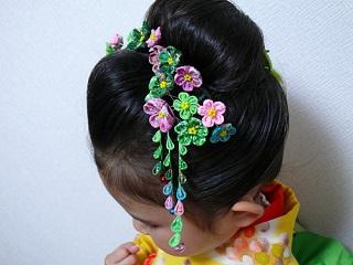 日本髪に挿しました♪