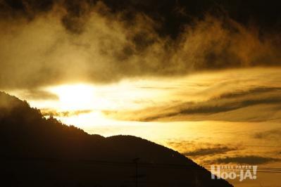 c0136239_185586 新田橋からの夕日
