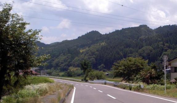 県道の景色
