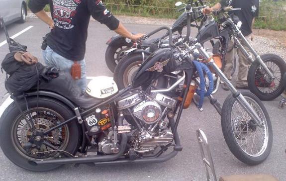 K村氏バイク