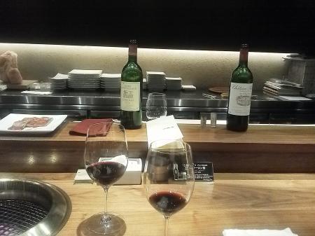 ワインで焼肉