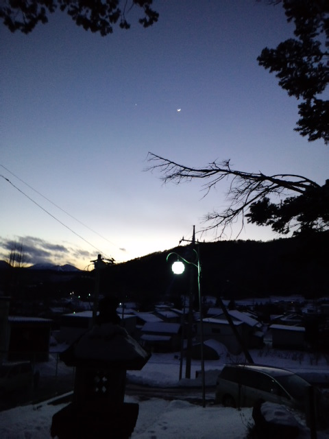 円通殿からの夕焼け