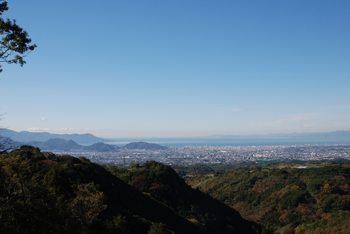 吊橋建設予定場所からの駿河湾(11月撮影)